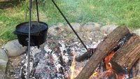 Fire pit at Banceithin